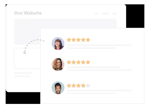 Online Bewertungen auf Webseite einbinden